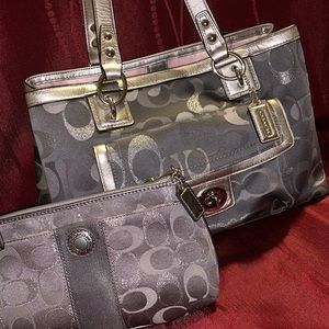 Coach Tote and Large Wristlet Wallet